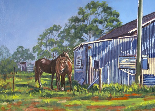 Farm Horses - Limited Edition Print (25) by Gayle Reichelt