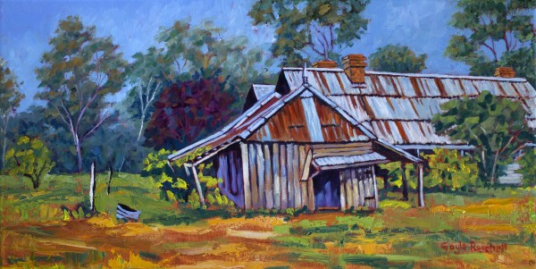 Old Shed, Coonanga Homestead - Limited Edition Print (25) by Gayle Reichelt