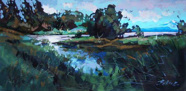 Estuary Greens  by Brian Buckrell