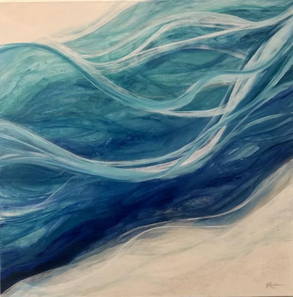 海玻璃抽象绘画由朱莉娅罗斯