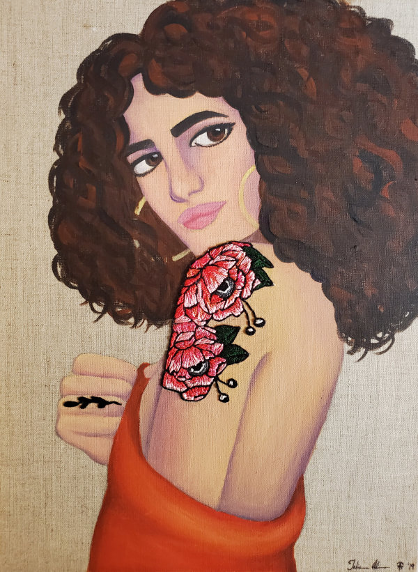 Girl with the Flower Tattoo by Talisa Almonte