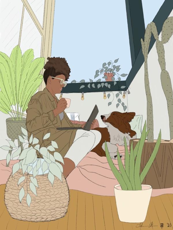 Krystal Illustration by Talisa Almonte