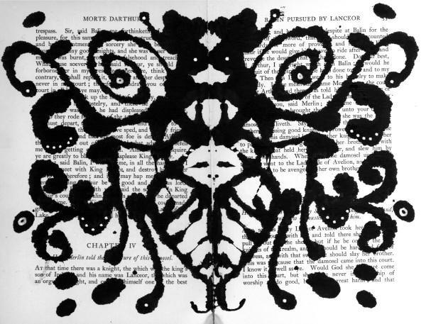Rorschach: Wasp Abdomen by Steffanie Lorig