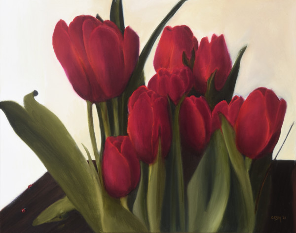 Tulips and Ladybugs by Carolyn Kleinberger