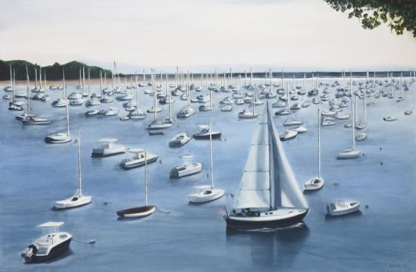 Marblehead Harbor by Carolyn Kleinberger
