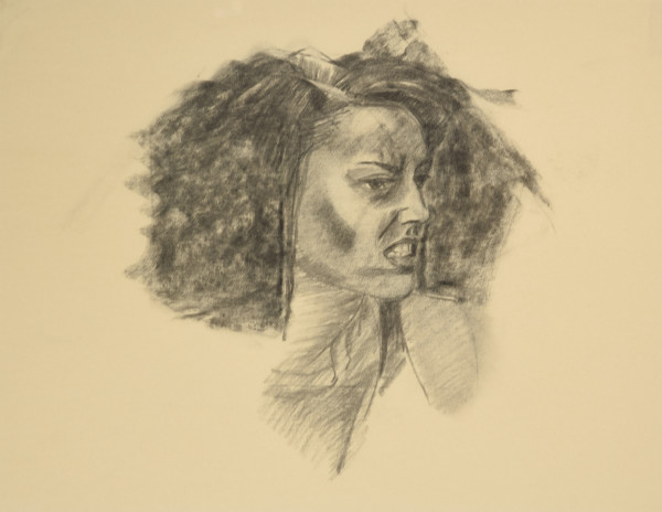 Fearsome and Fearless Charcoal Study by Carolyn Kleinberger