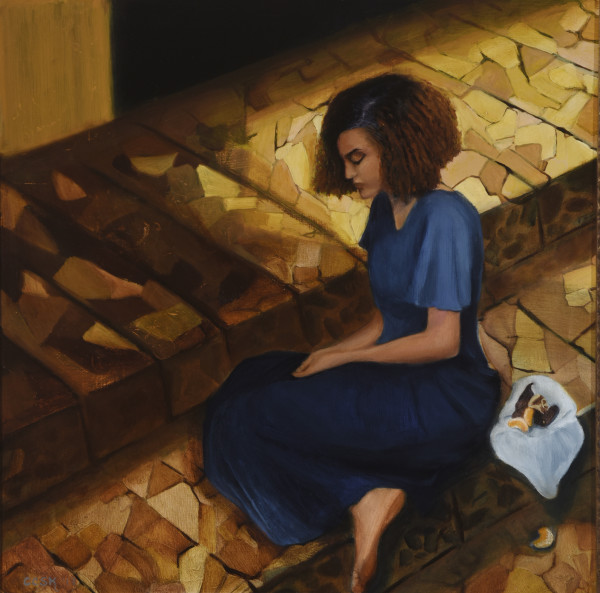 Hannah on the Temple Steps by Carolyn Kleinberger