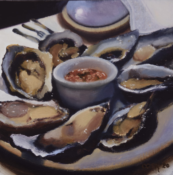 Oyster Dinner In Mexico City by Carolyn Kleinberger