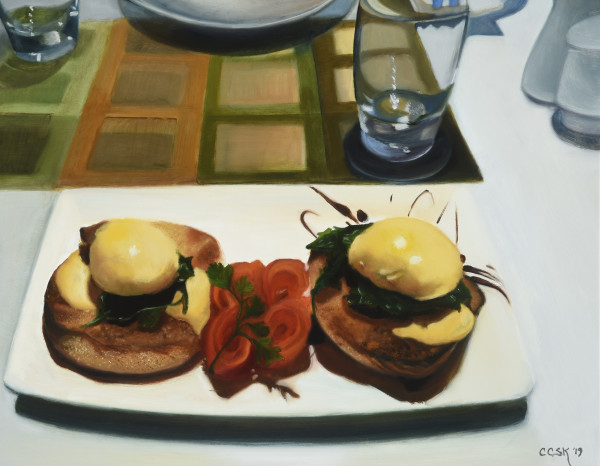 Eggs Benedict New Zealand Style by Carolyn Kleinberger
