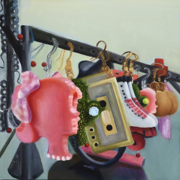 Dangling Retro Earrings by Carolyn Kleinberger