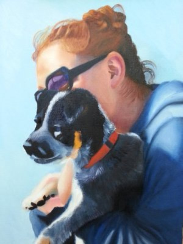A Girl and Her Dog by Carolyn Kleinberger
