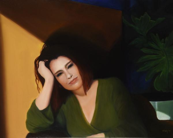 Liza Sitting by Carolyn Kleinberger
