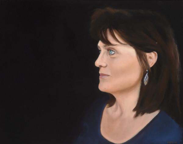 Portrait Of Carol by Carolyn Kleinberger