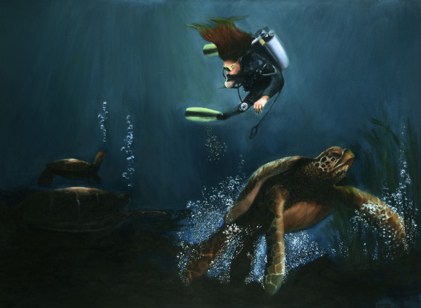 Swimming With Turtles by Carolyn Kleinberger