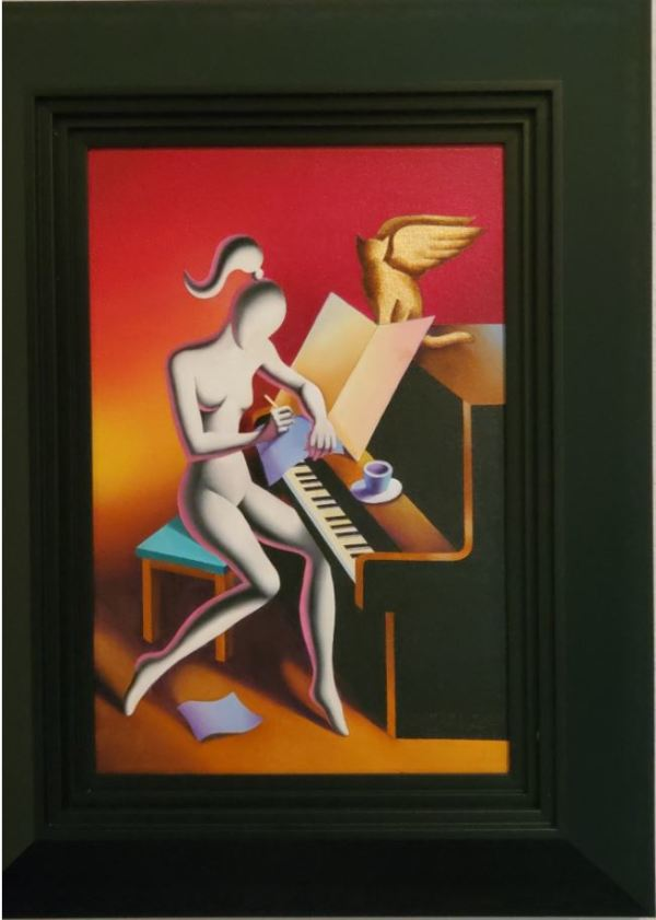 Composed - A Unique Piece by Mark Kostabi