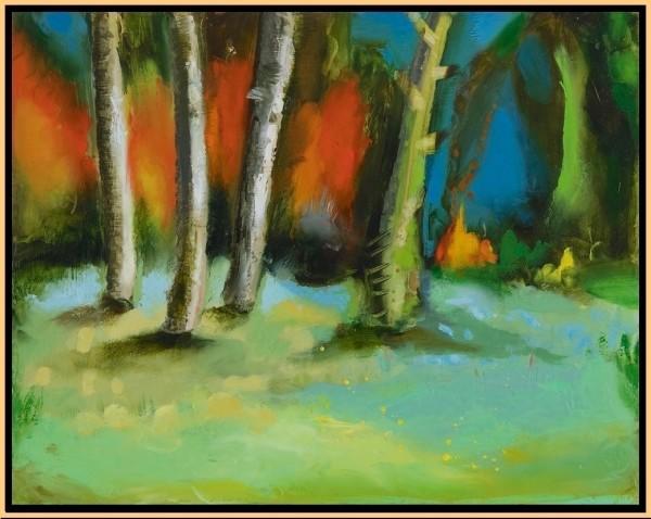 Mint Green Light (study) by Leslie Neumann
