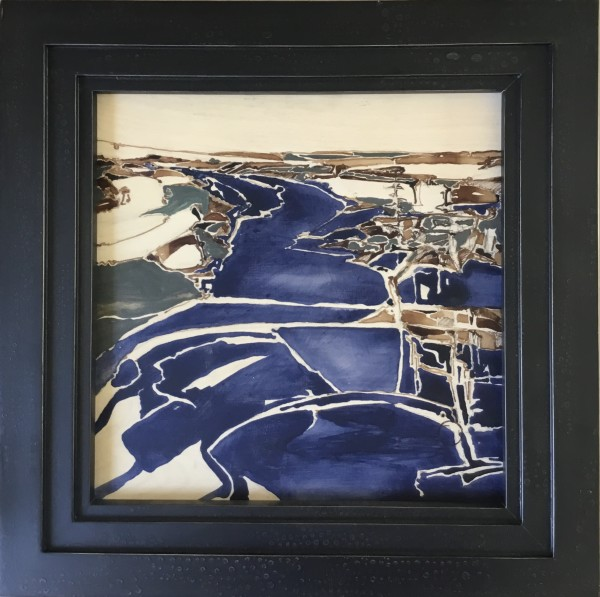 Inland Pond - Abstraction by Barbara Houston