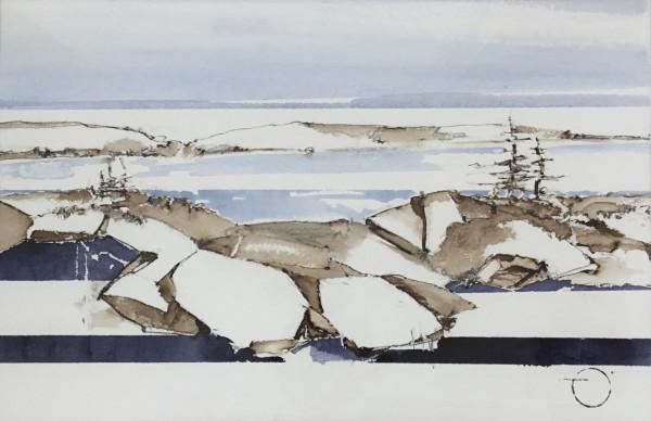 Inland Pond IP43-53 by Barbara Houston
