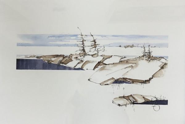 Inland Pond IP43-54 by Barbara Houston