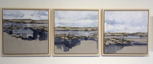 Inland Pond Series IP43-58 + 59 + 60 (Triptych) by Barbara Houston