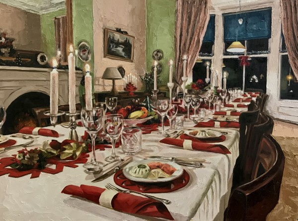 The Dining Room, Christmas by Zanya Dahl