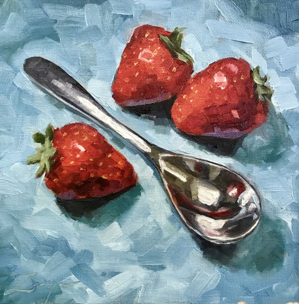 Still Life with Strawberries by Zanya Dahl