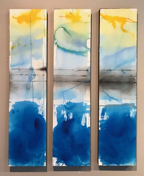 SBH 37 Triptych (30x7x1.5 each) by McCain McMurray