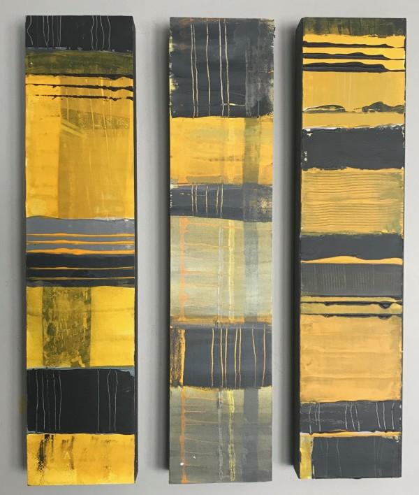 SBH 35 Triptych (Each 22x5x1.5) by McCain McMurray