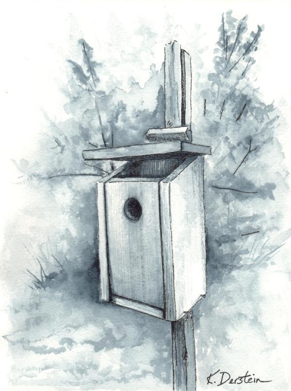 """""""Empty Birdhouse"""" by Kate Derstein"""