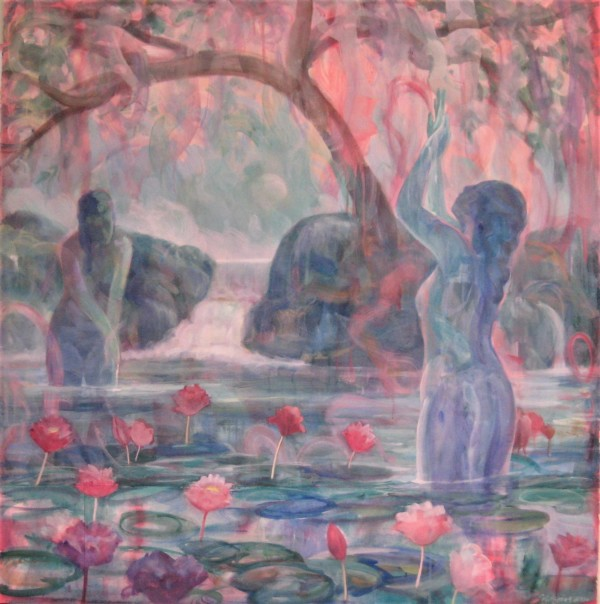 Lotus Bathers by Michael Zieve