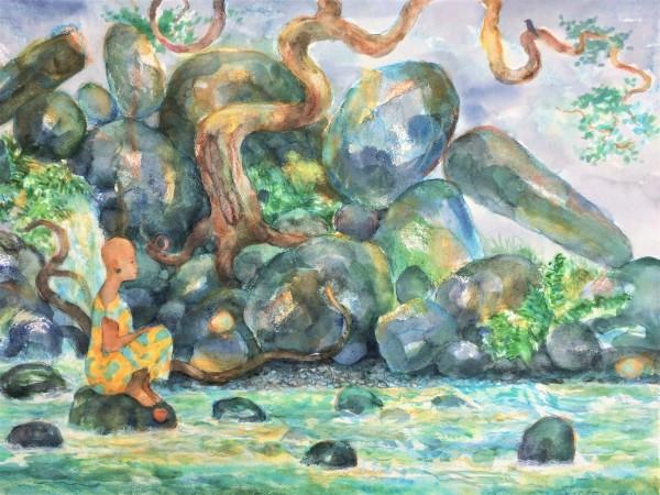 Sitting River, Talking Rocks. by Michael Zieve