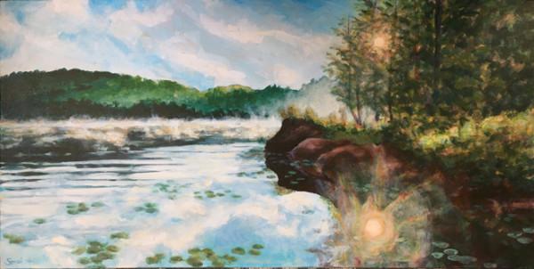 Dan's View, Bark Lake by Sarah Robinson