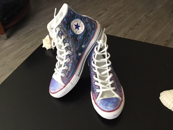 Art On Shoes Series/Collection/designs(The Converse Design by Phyllis Thomas