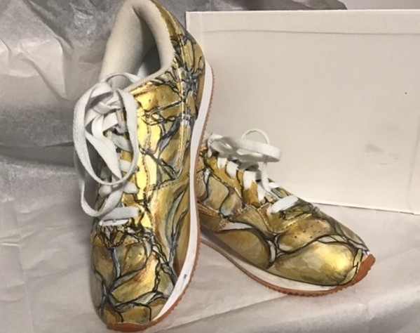"""Art On Shoes Series/Collection/designs(Gold Touch"""" by Phyllis Thomas"""