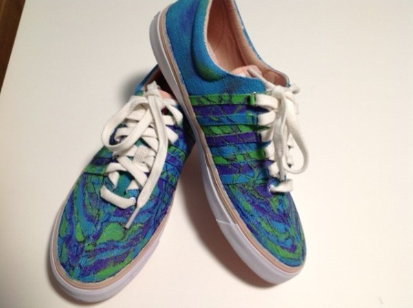"""Art On Shoes Series/Collection/designs, """"Oceanic Marble"""" by Phyllis Thomas"""