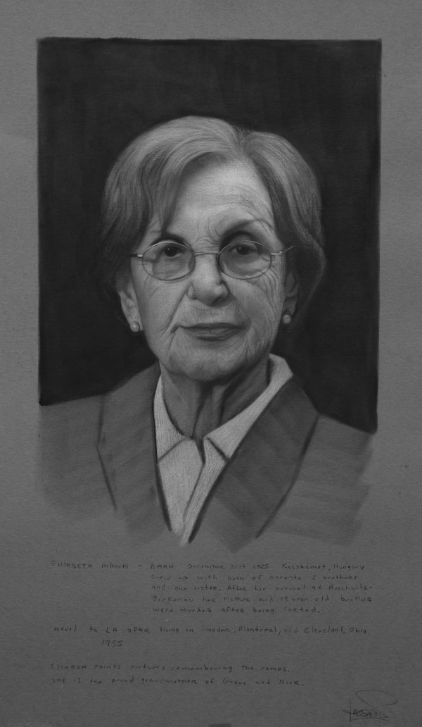 Study of Elisabeth Mann for Bearing Witness by David Kassan