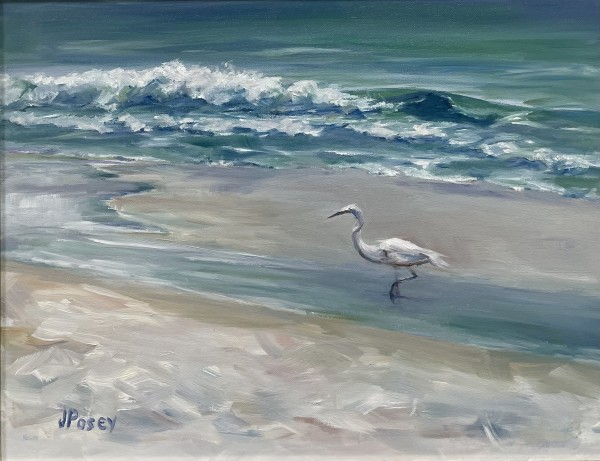 White Heron by Jeany Posey