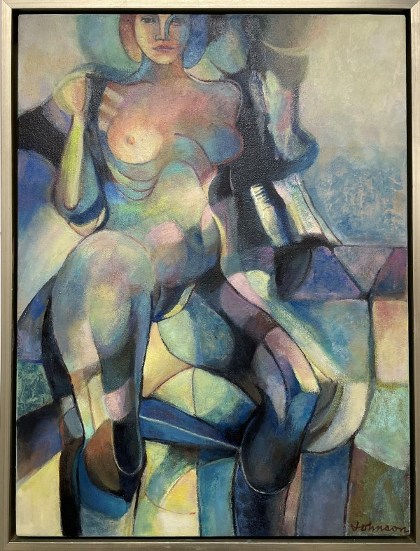 Nude cubism by Nancy Johnson