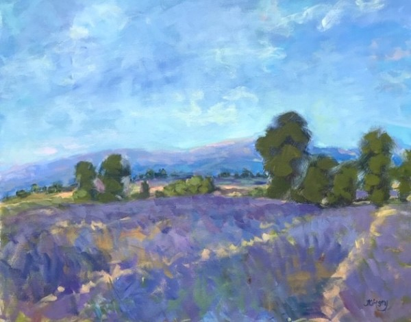 Blue Sky in Provence by Lorraine Kimsey