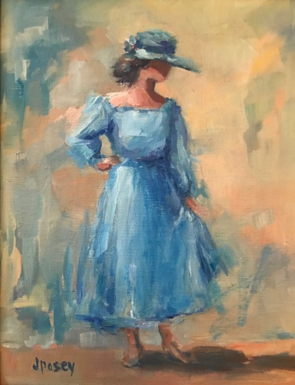 Ladie in Blue by Jeany Posey