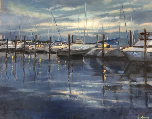 Marina Moonrise by Julie Mann