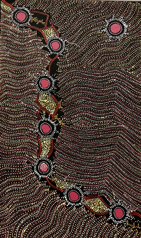 Napaljarri-warnu Jukurrpa (Seven Sisters Dreaming) by Shanna  Napnangka