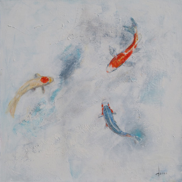 Party of Koi 3 by Anne Dosso