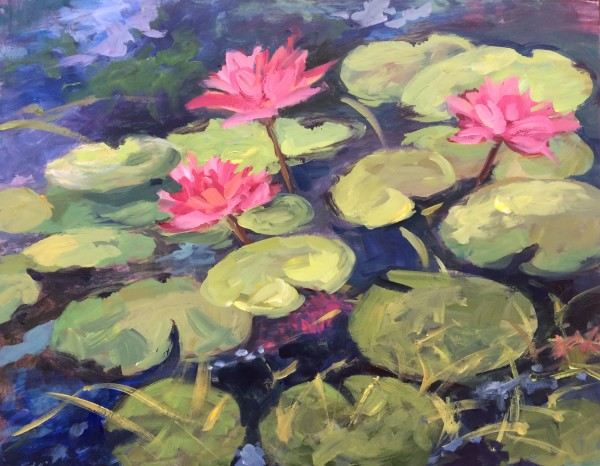 Waterlilly Impressions by Lorraine Kimsey