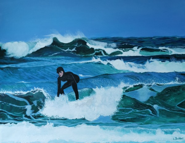 Surfing West Beach by Lois Dubber