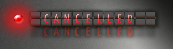CANCELLED / ON TIME: A FRAMED LENTICULAR GRAPHICS PIECE (LARGER VERSION) by judith angerman