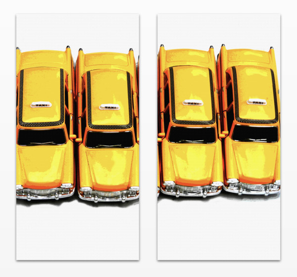 New York Taxis by judith angerman