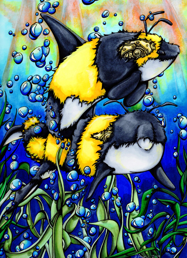 Bee Whales by Jessica Nunno