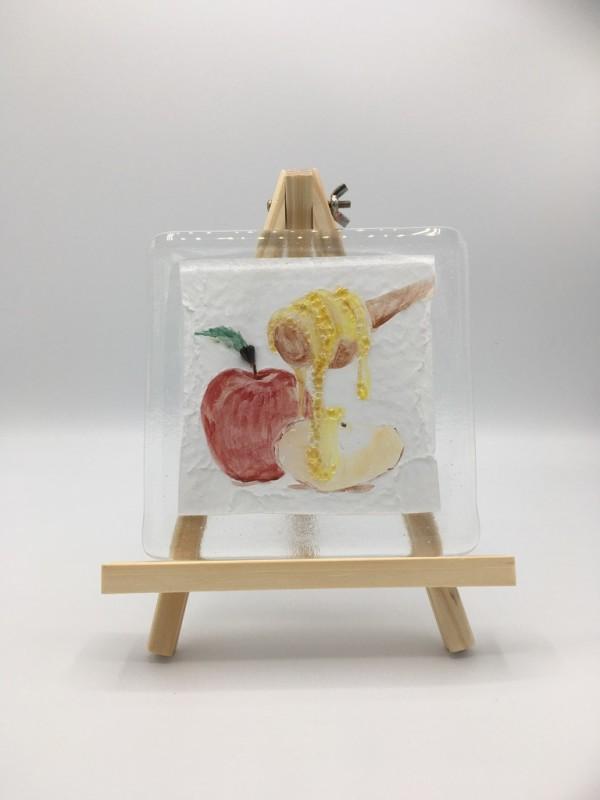 Honey & Apple - mixed media by Shayna Heller