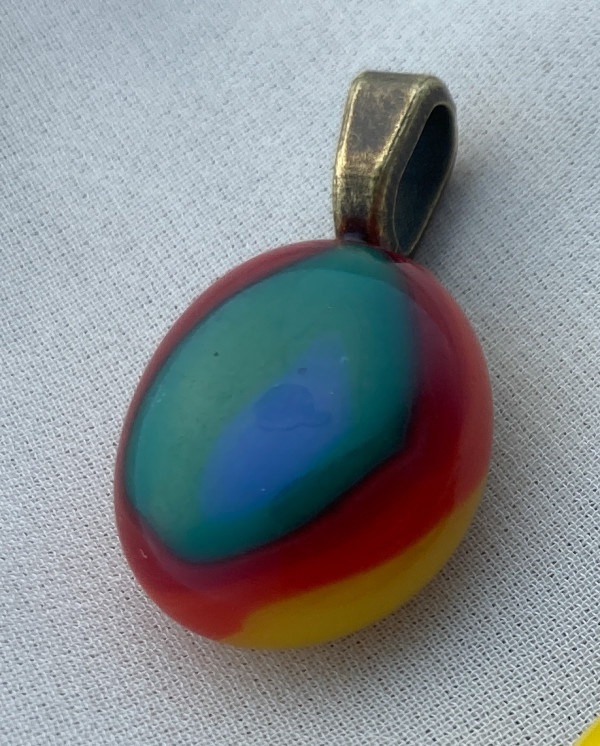 Fused glass pendant #72 by Shayna Heller